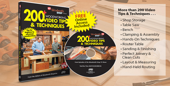 150 Woodworking Tips on DVD