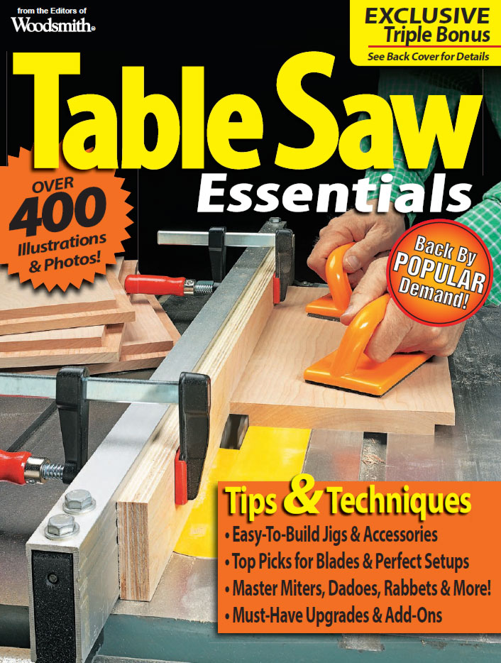Table Saw Essentials Cover