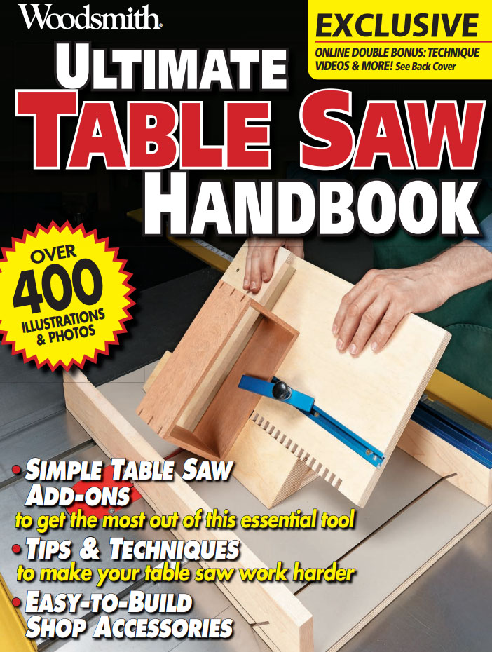 Ultimate Table Saw Handbook Cover