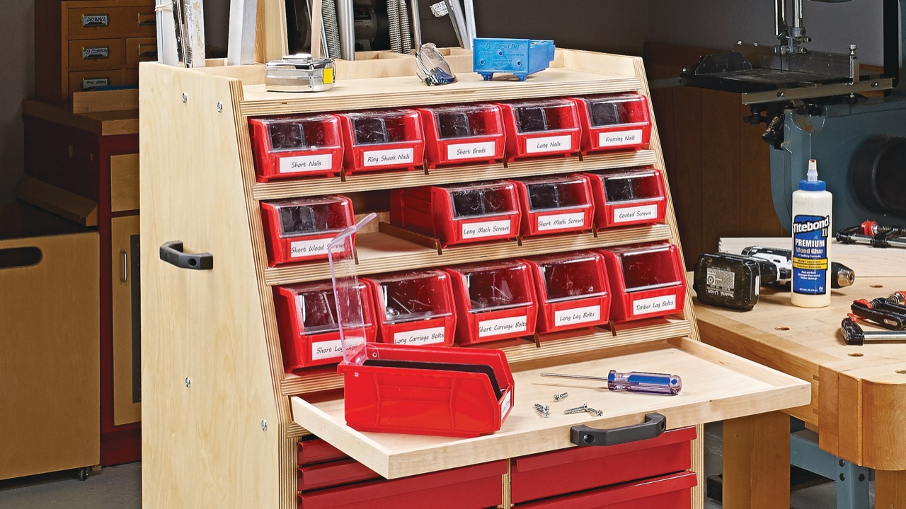 Hardware Organizer Cart