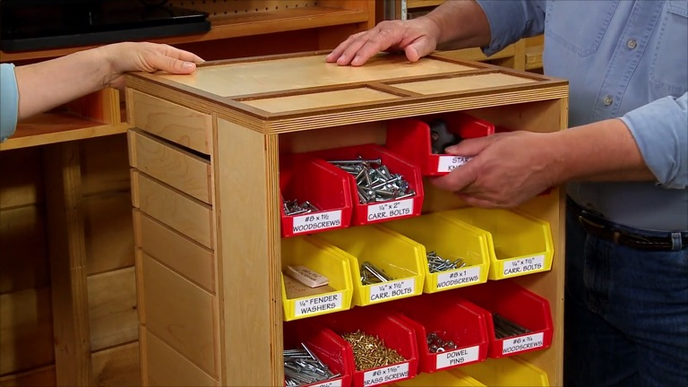 Swing Drawer Storage Cart