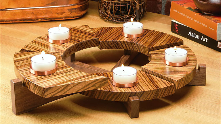 Spiral Candle Centerpiece