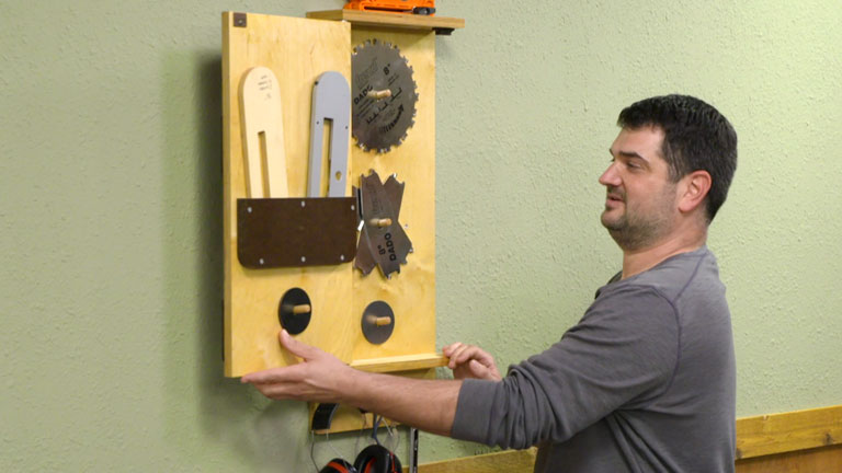 Table Saw Blade Storage Cabinet