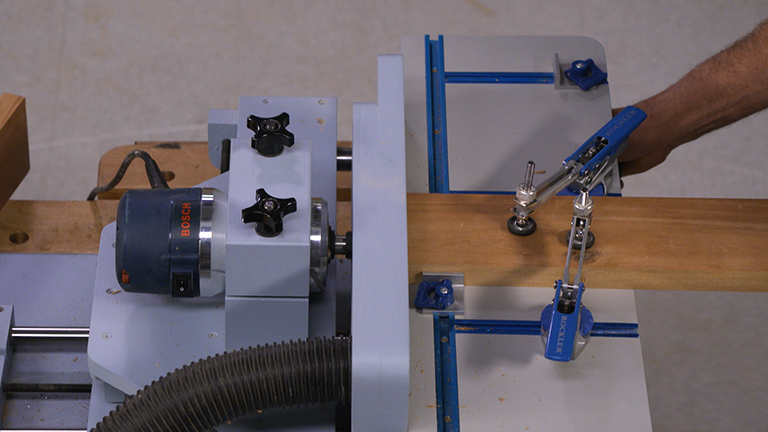 Using a Mortising Machine