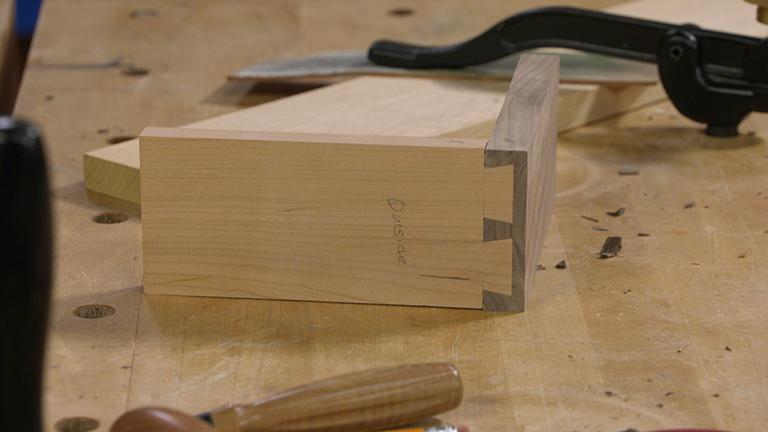 Hand-Cut Half-Blind Dovetails