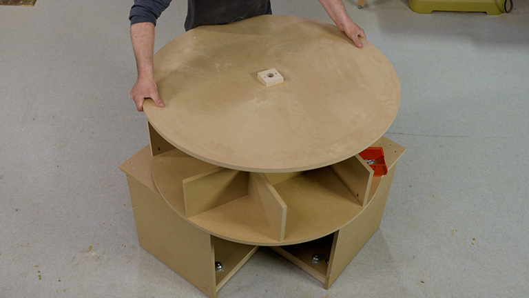 Revolving Tool Cabinet: Building the Carousel