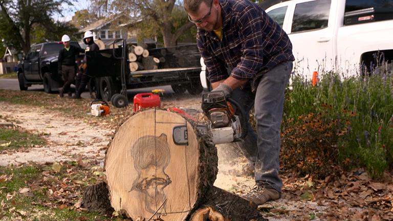 Cutting a Bowl Blank